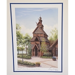 Disney Deluxe Print - Norway Stave Church - Vacation Memories by Larry Dotson