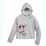 Disney Girls Hoodie Cropped - Minnie Mouse