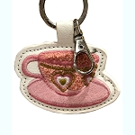 Disney Keychain Keyring - Tea Cup Let's Go For A Spin - Latch Hook Style