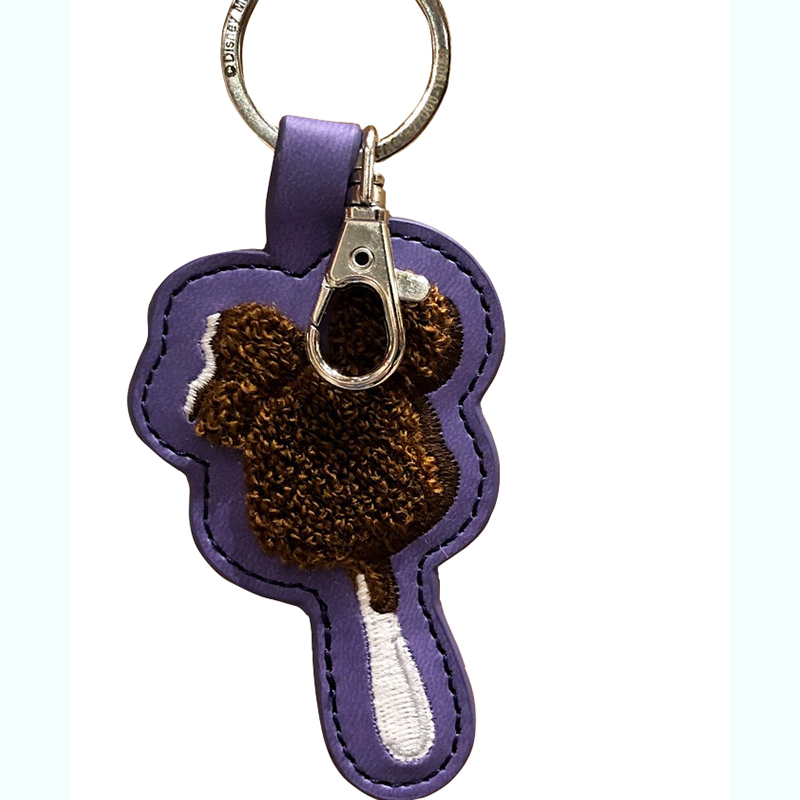 Disney Keychain Keyring - Mickey Ice Cream Bar - Latch Hook Style