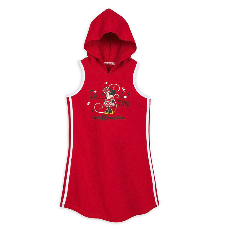 Disney Girls Hooded Dress - Minnie Mouse - Fearless & Strong