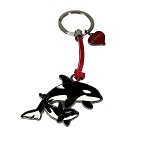 SeaWorld Keychain Keyring - Shamu Mother & Child