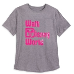 Disney Men's Shirt - Walt Disney World Logo - Imagination Pink