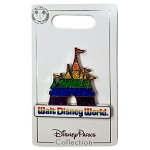 Disney World Pin - Walt Disney World Rainbow Glitter Castle Pin