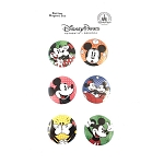 Disney Button Magnet Set - Pop Art Mickey & Minnie Mouse