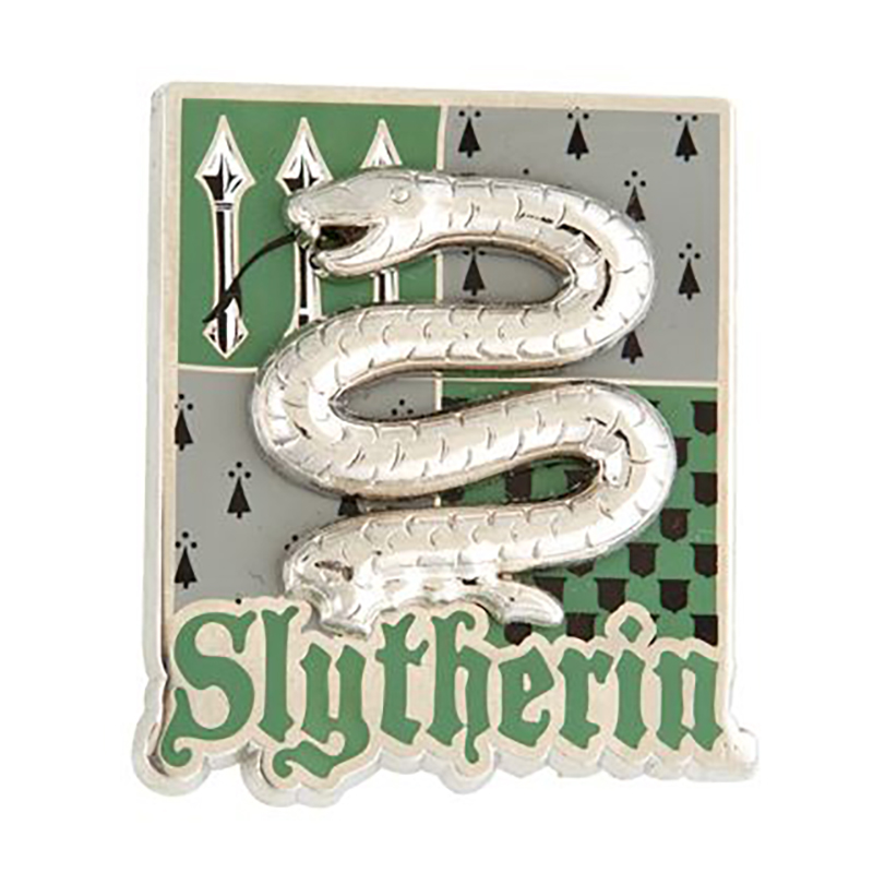 Universal Pin - Harry Potter - Slytherin Metal Crest Textured