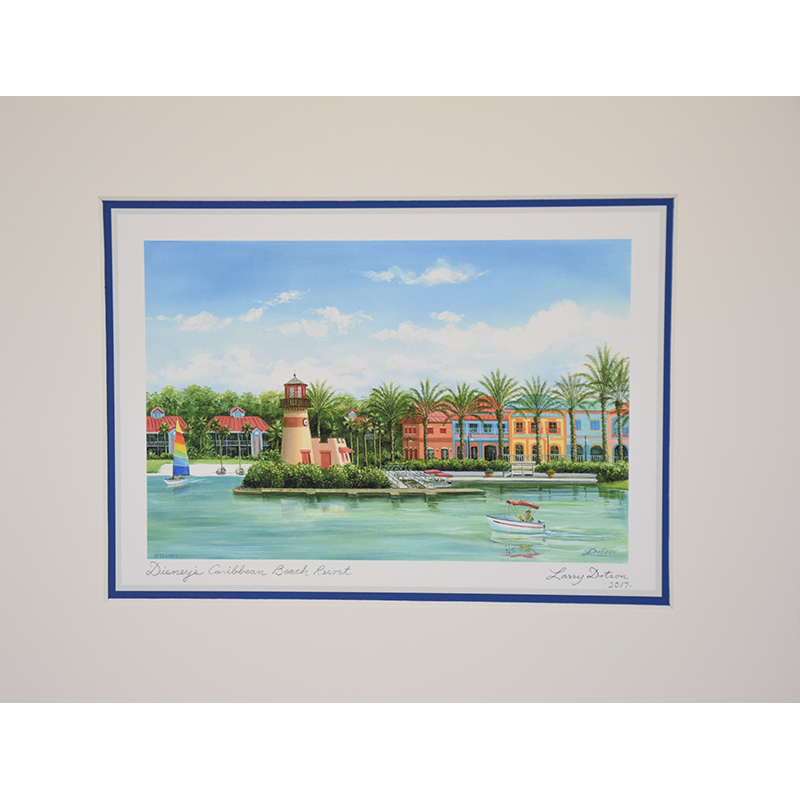 Disney Artist Print - Caribbean Beach Resort by Larry Dotson
