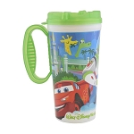 Disney Thermal Travel Mug - Disney Parks & Pixar Characters - Green Trim