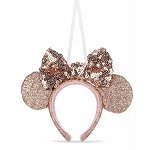 Disney Ornament - Minnie Ear Headband - Briar Rose Gold