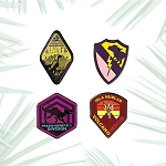 Universal Mini Pin Set - Jurassic World - Department Emblems