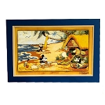 Disney Fine Art - Lithograph on Paper - Mickey and Friends Go Hawaiian