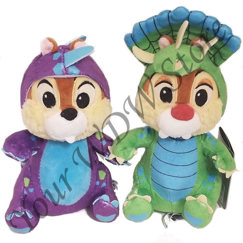 Disney Plush Set - Chip & Dale 7'' Dino Bash Mash-up