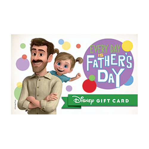 Disney Collectible Gift Card - Great Dad Inside and Out - Father's Day