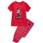 Disney Girls Pajama Set - Minnie Mouse - Velour