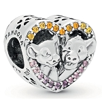 Disney Pandora Charm - Simba and Nala Heart