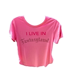 Disney Women's Shirt - I Live in Fantasyland