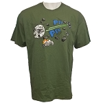 Disney Adult Shirt - Star Wars - Millennium Falcon Tee - Pew Pew