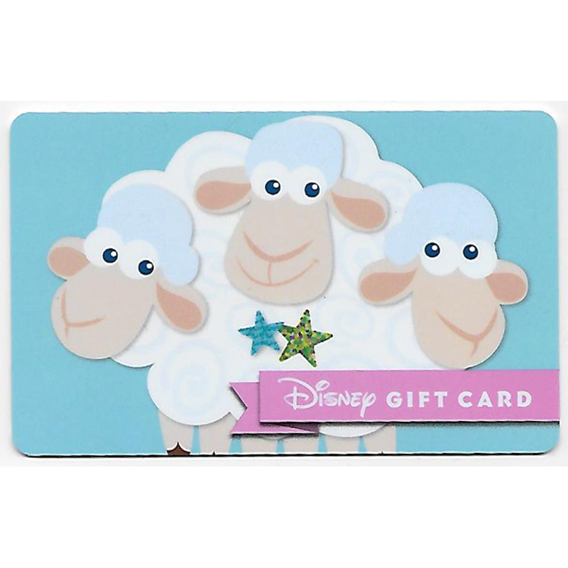 Disney Collectible Gift Card - Bo Peep Sheep - Billy Goat and Gruff