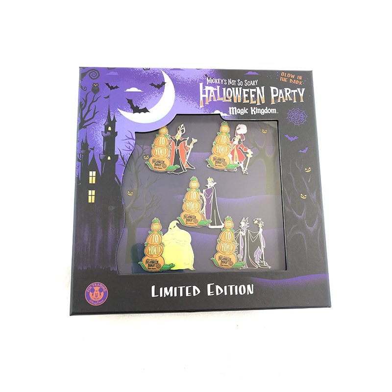 Disney Pin Box Set - Villians - MNSSHP 2019 - Slider - Limited Edition