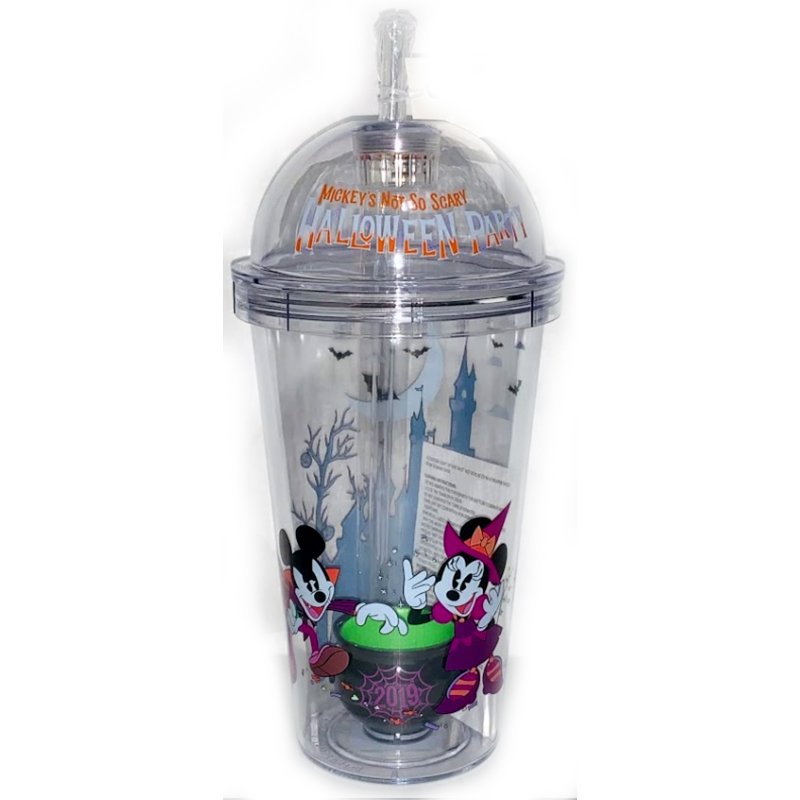 Disney Tumbler with Straw - Mickey's Not So Scary Halloween Party 2019