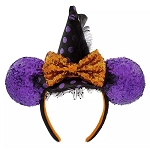 Disney Minnie Ear Headband - Halloween Witch Hat w/ Bow & Ears