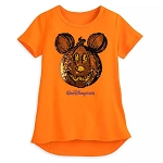 Disney Girl's Shirt - Pumpkin Mickey Mouse - Reversible Sequin