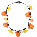 Disney Glow Necklace - Mickey Pumpkins & Halloween Candy