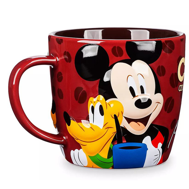Disney Coffee Cup Mug - Mickey Mouse & Pluto - Coffee & Friends Make the Perfect Blend