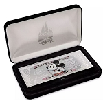 Disney Collector's Silver Plated Disney Dollar - Mickey Mouse - Limited Edition
