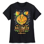 Disney Adult Shirt - Mickey Mouse Happy Halloween 2019 - Glow in The Dark