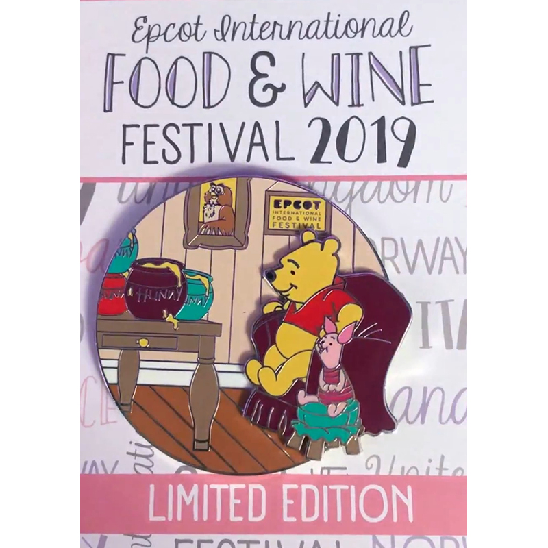 Disney Pin - Winnie the Pooh - Epcot Food & Wine Festival 2019 - Limited Edition