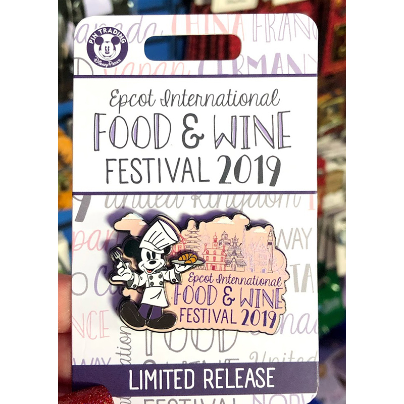 Disney Pin - Mickey Mouse - Epcot Food & Wine Festival 2019 Logo