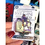 Disney Pin - Chef Figment - Epcot International Food & Wine Festival - Limited Edtion Tri-Fold