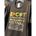 Disney Adult Shirt - Taste Your Way Around the World - Epcot Food & Wine Festival 2019 - PASSHOLDER
