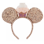 Disney Minnie Mouse Ear Headband - Epcot Food & Wine Festival 2019 - Cupcake - Rose Gold
