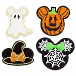 Disney Iron On Patch Set - PatcheD - Mickey & Minnie HALLOWEEN Icons