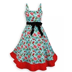 Disney Women's Dress Shop Dress - Mickey and Minnie Mouse Floral