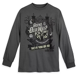 Disney Men's Shirt - The Haunted Mansion - Hitchhiking Ghosts - Long Sleeve