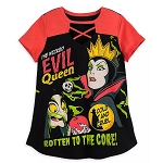 Disney Women's Shirt - Evil Queen / Old Hag - Rotten To The Core - Disney Villains Tabloid Cover