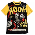Disney Mens Shirt - Hook - Captain of Bad - Disney Villains Tabloid Cover