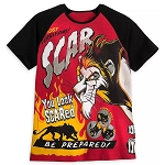 Disney Mens Shirt - Scar - Most Terrifying - Disney Villains Tabloid Cover