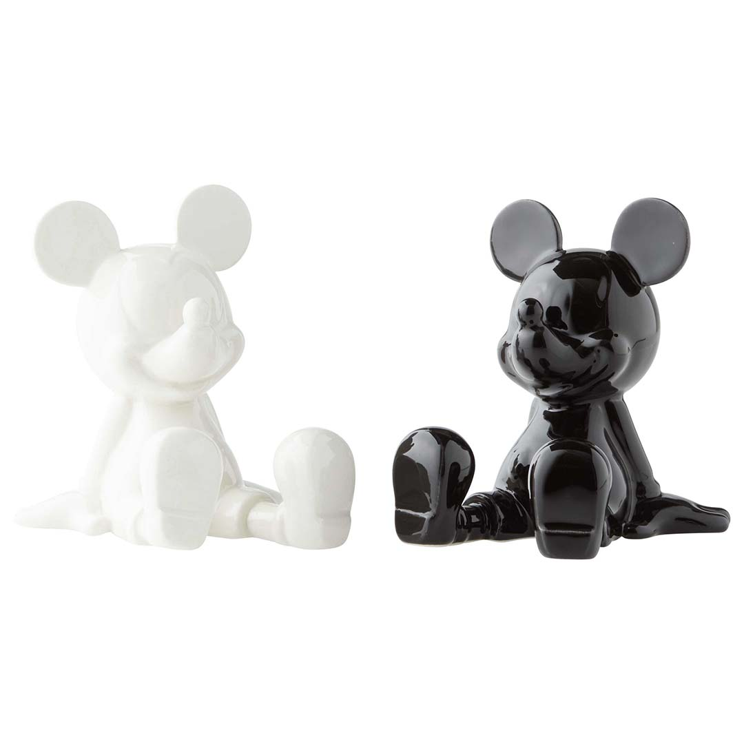 Disney Salt And Pepper Shaker Set Black And White Mickey Mouse