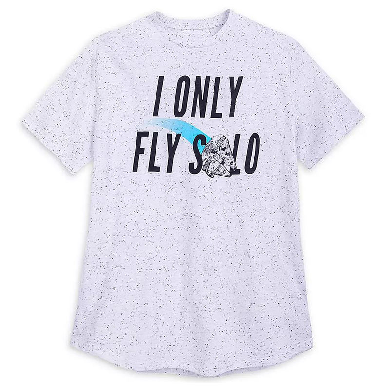 Disney Men's Shirt - I Only Fly Solo - Millenium Falcon