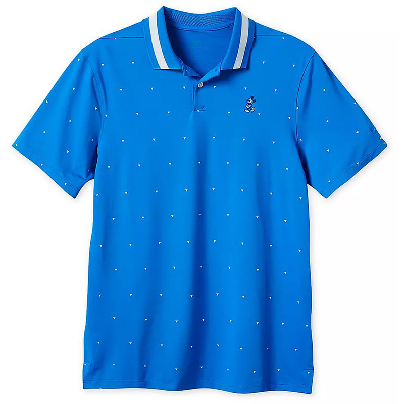 Disney Men's Shirt - Mickey Mouse Performance Polo by Nike - Blue Print