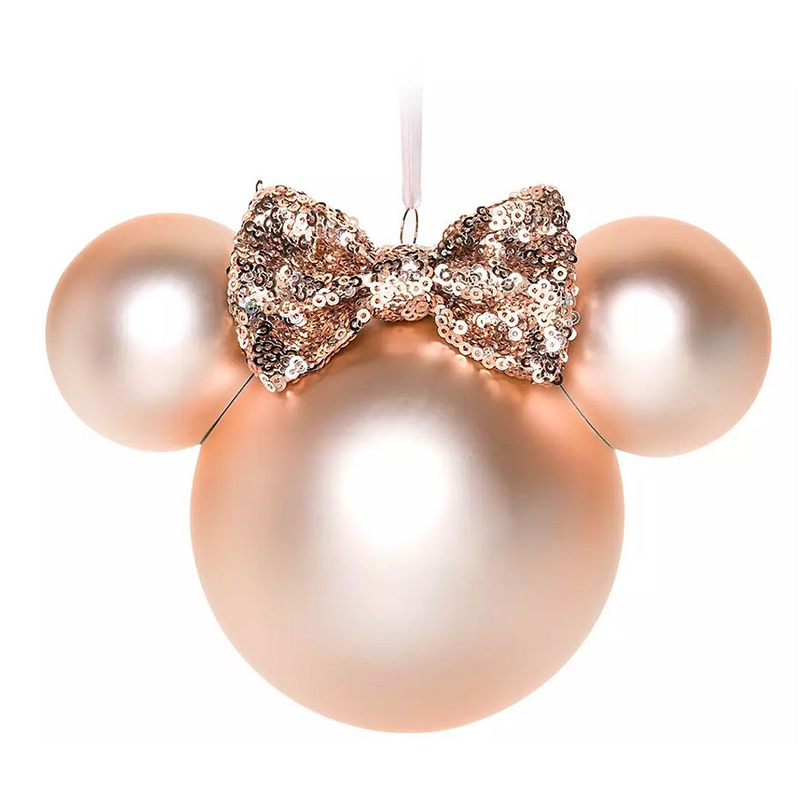 Disney Ball Ornament - Minnie Mouse Icon - Briar Rose Gold