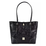 Disney Dooney and Bourke Bag - Disney Parks Icons - Black Leather Tote