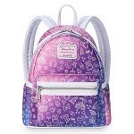 Disney Loungefly Mini Backpack - Disney Parks Icons - Gradient Pink / Purple