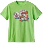 Disney Adult Shirt - Walt Disney World - Retro Neon Green