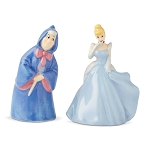 Disney Salt and Pepper Shaker Set - Cinderella Fairy Godmother