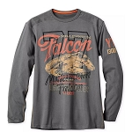 Disney Men's Shirt - Millineum Falcon - Long Sleeve Tee